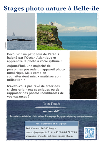 Affiche stage photo et paysages marins